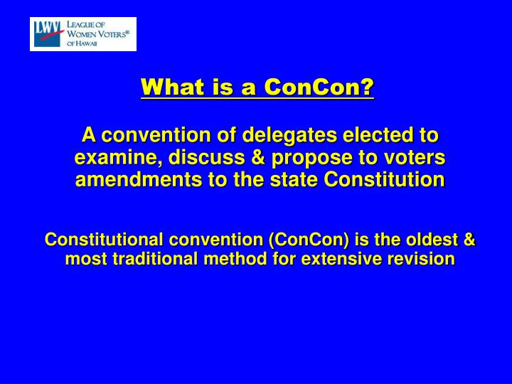 What is a ConCon?