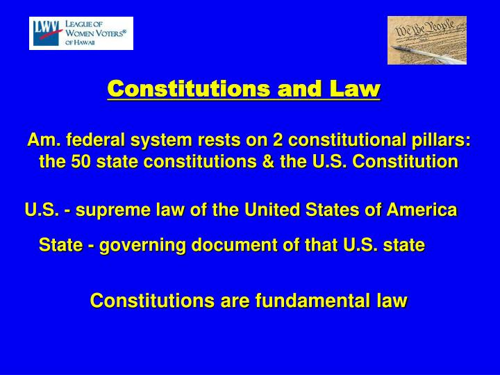 Am. federal system rests on 2 constitutional pillars: