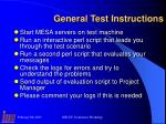 general test instructions