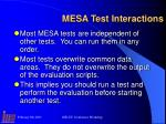 mesa test interactions
