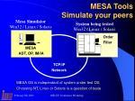 mesa tools simulate your peers