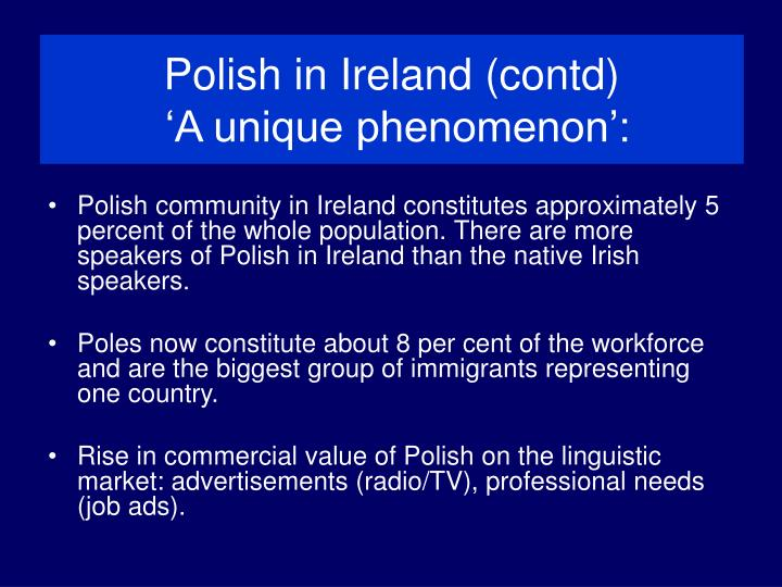 Polish in Ireland (contd)