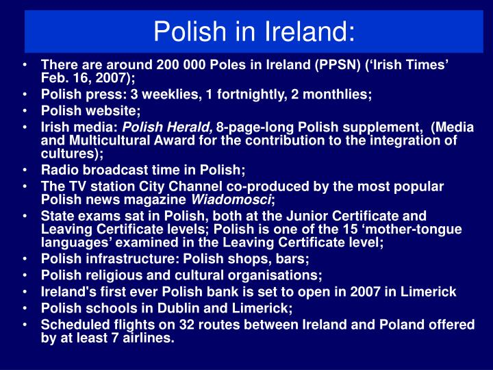 Polish in ireland