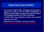 some facts about polish