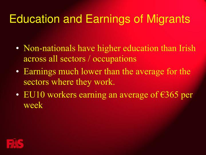 Education and Earnings of Migrants