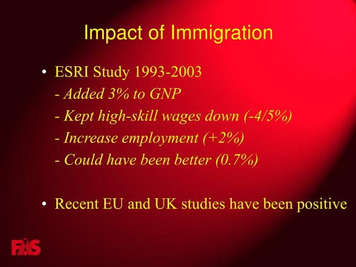 Impact of Immigration