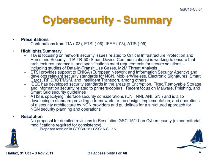 Cybersecurity - Summary