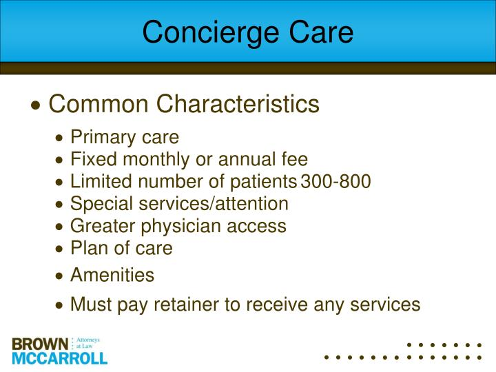 Concierge Care