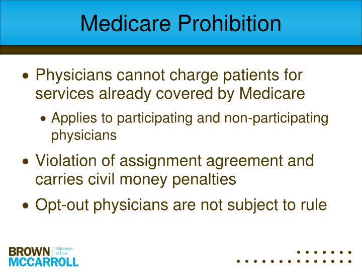 Medicare Prohibition