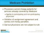 medicare prohibition