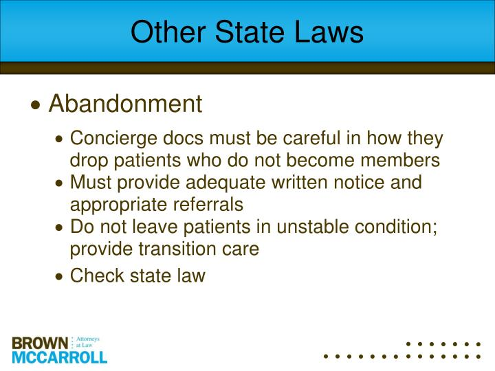 Other State Laws