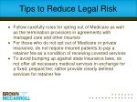 tips to reduce legal risk1