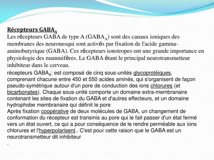 Récepteurs GABA
