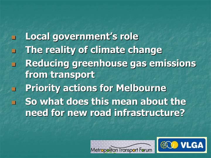 Local government's role
