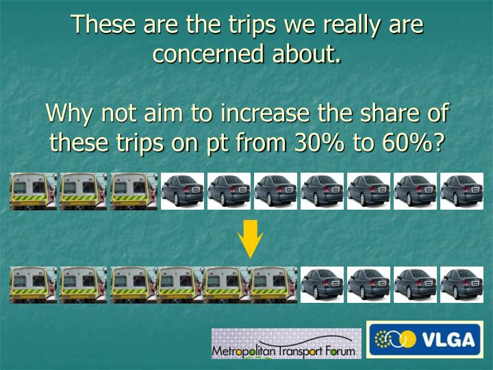 These are the trips we really are concerned about.