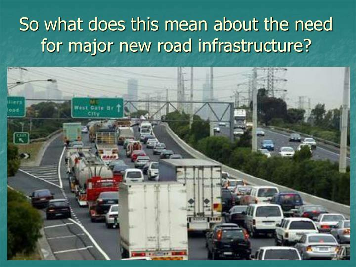 So what does this mean about the need for major new road infrastructure?