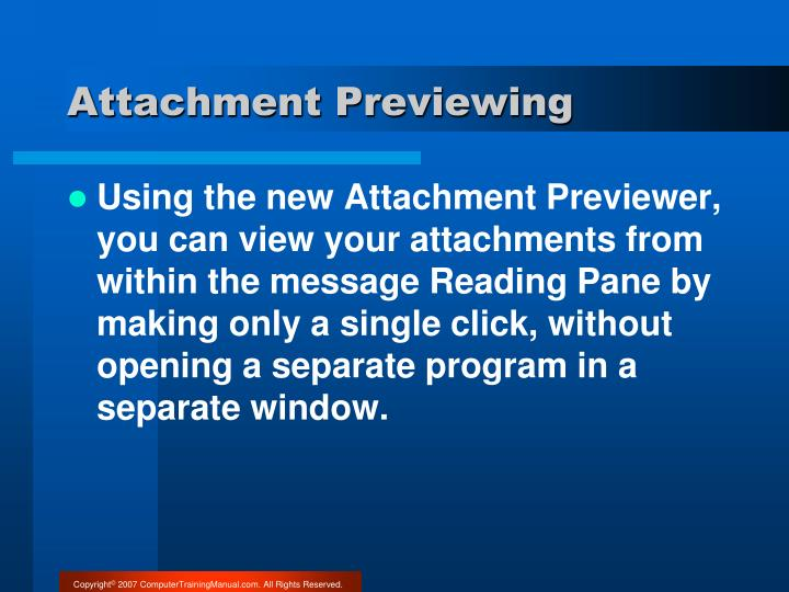 Attachment Previewing
