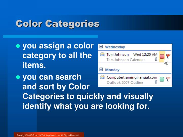 Color Categories