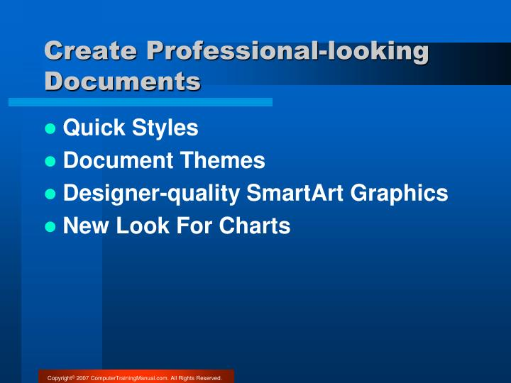 Create Professional-looking Documents