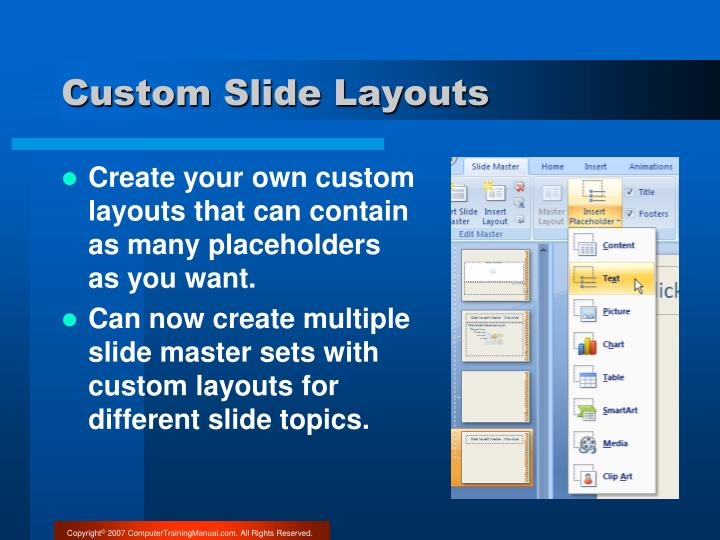 Custom Slide Layouts