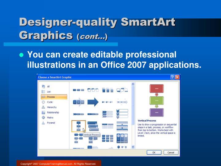 Designer-quality SmartArt Graphics
