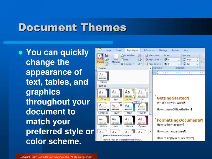 Document Themes