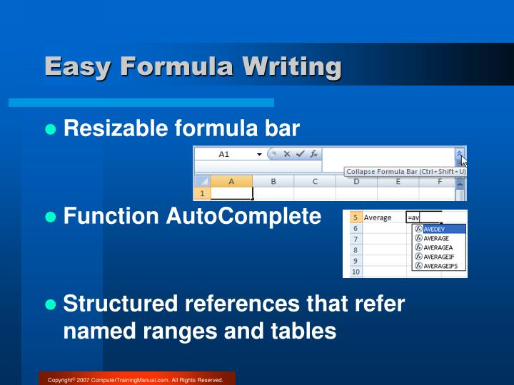 Easy Formula Writing