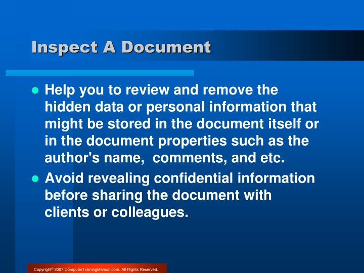 Inspect A Document