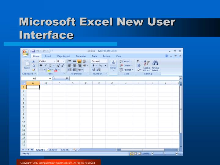 Microsoft Excel New User Interface