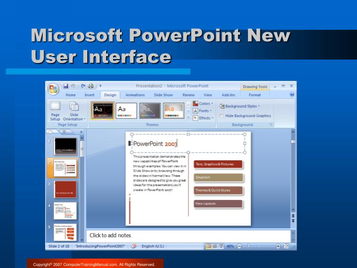 Microsoft PowerPoint New User Interface