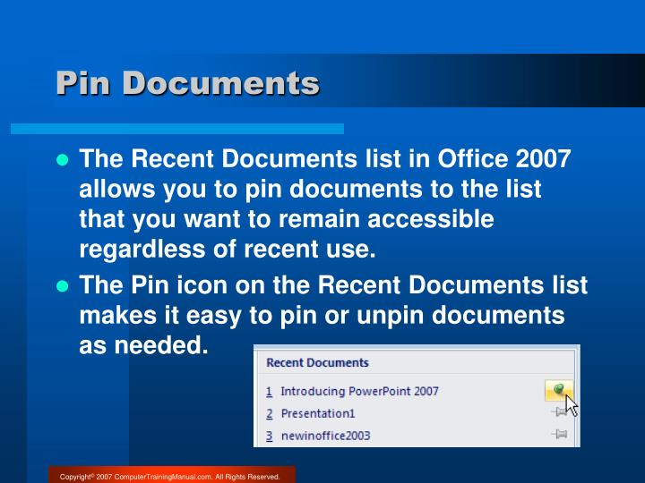 Pin Documents