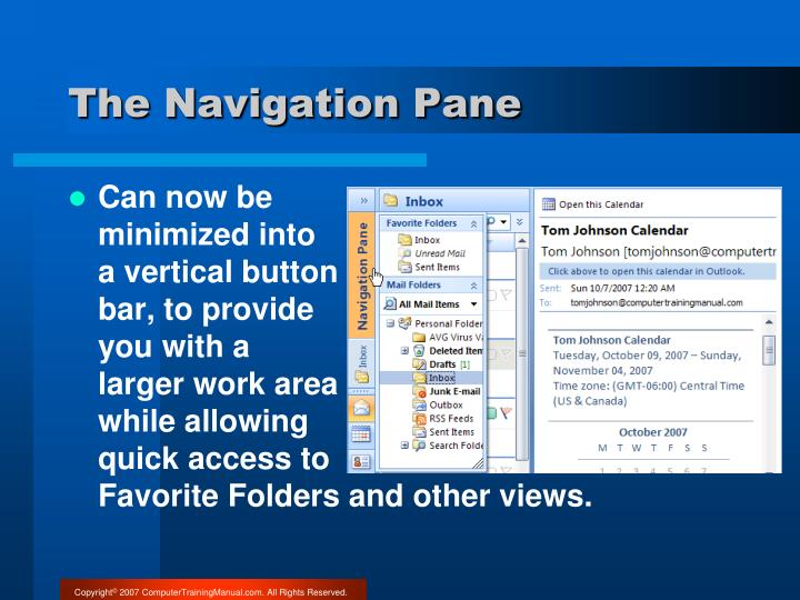 The Navigation Pane