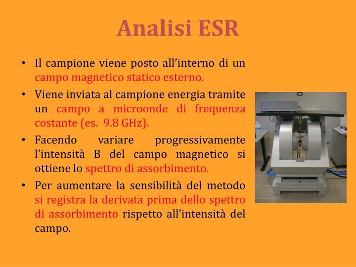 Analisi ESR