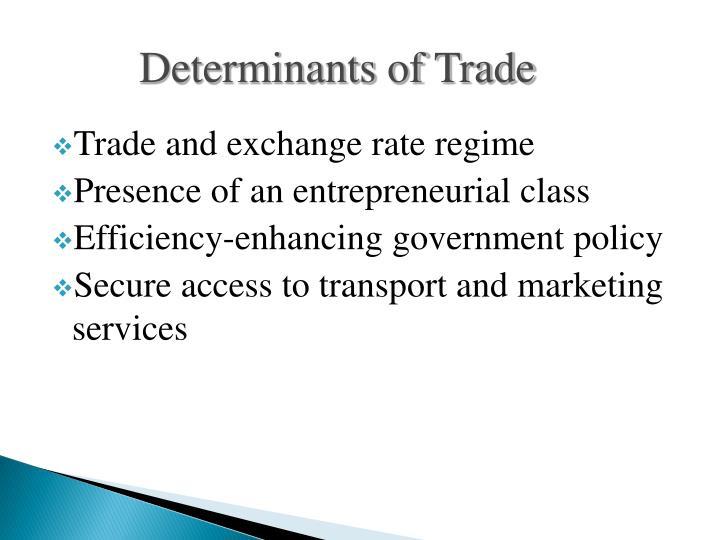 Determinants of Trade
