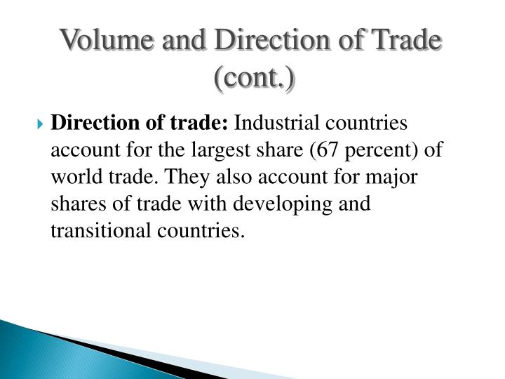 Volume and Direction of Trade
