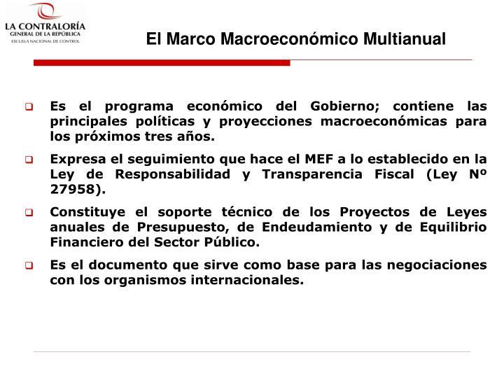 El Marco Macroeconómico Multianual