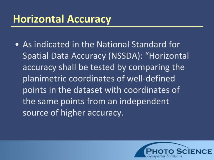 Horizontal Accuracy