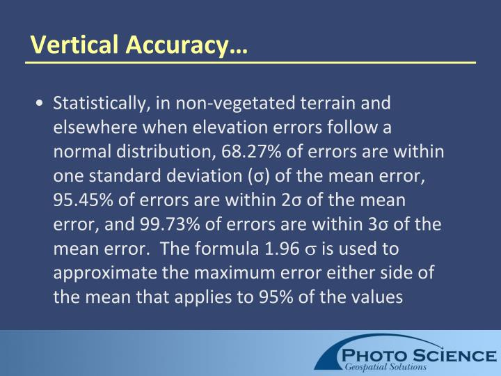 Vertical Accuracy…