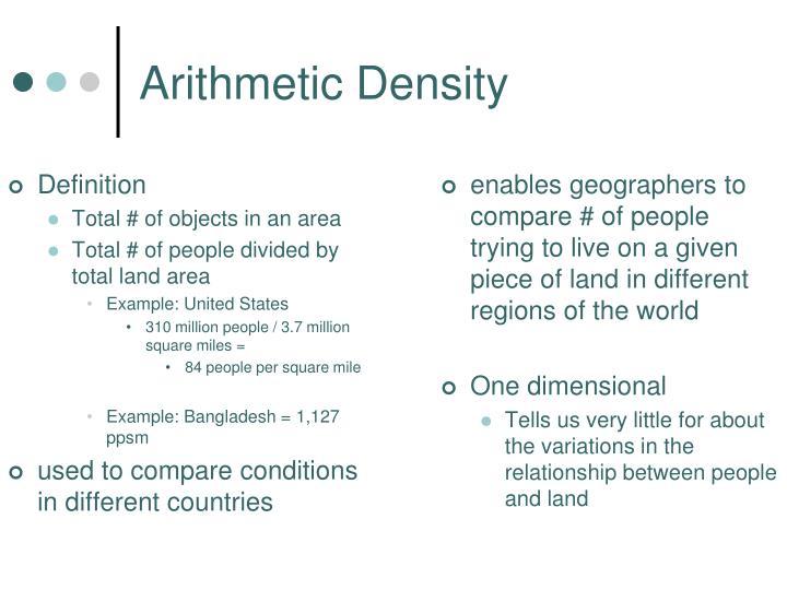 Arithmetic Density