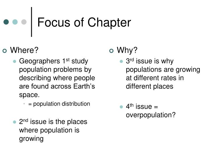 Focus of chapter