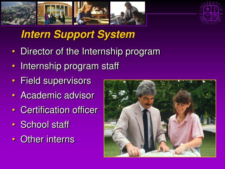 Intern Support System