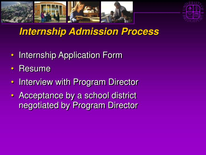 Internship Admission Process