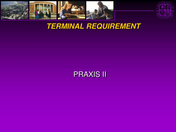 TERMINAL REQUIREMENT