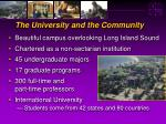 the university and the community