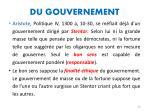 du gouvernement