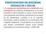 participation en doctrine sociale de l glise