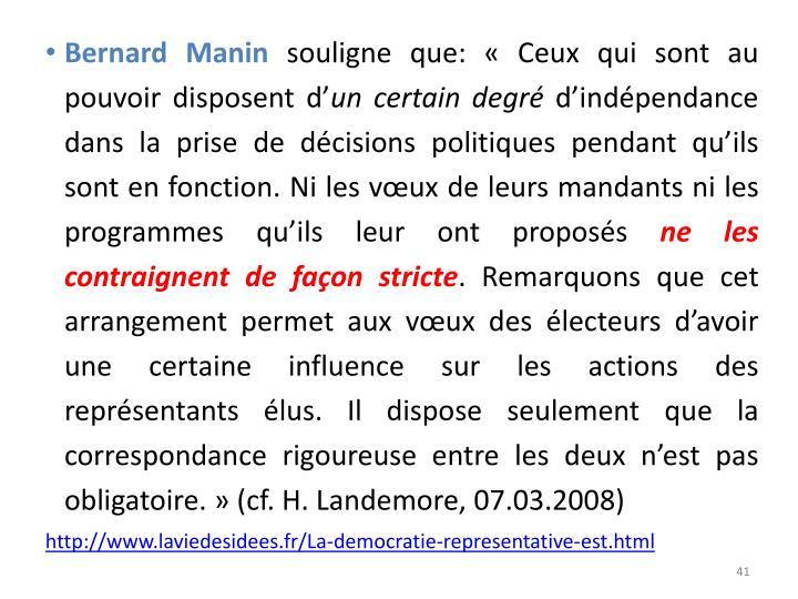 Bernard Manin