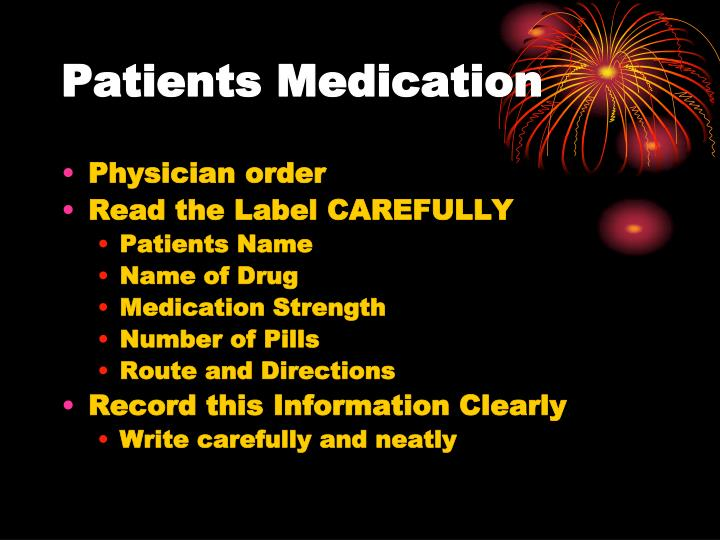 Patients Medication