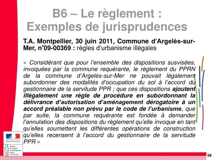 T.A. Montpellier, 30 juin 2011, Commune d'Argelès-sur-Mer, n°09-00369: