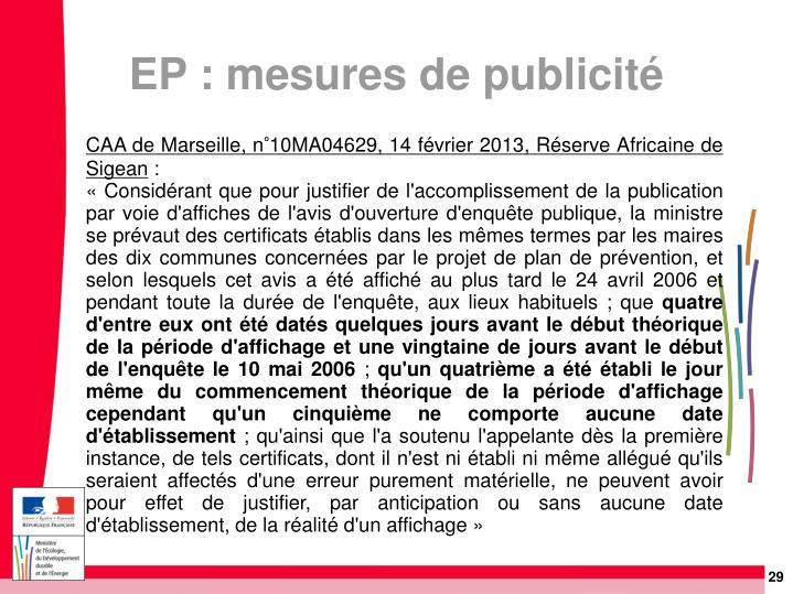 CAA de Marseille, n°10MA04629, 14 février 2013, Réserve Africaine de Sigean